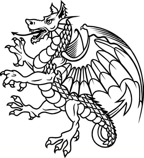 heraldic dragon - Google Search | foosball table paint ...
