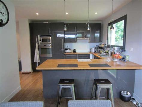 cuisine grise et charmant cuisine grise et bois et cuisine design sans