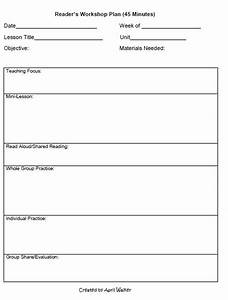 the idea backpack how to organize time in reading and With writing workshop lesson plan template