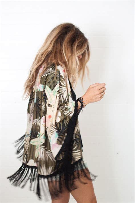 Fringe Kimono Aloha