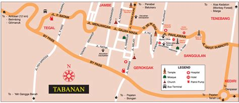 map kota tabanan