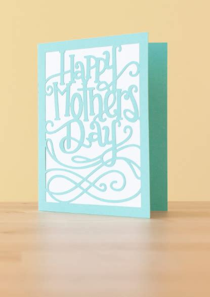 happy mothers day card     cricut design