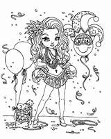 Mardi Gras Coloring Pages Printable Mask Celebration Beads Carnival Comedy Chakiradecor Popular sketch template