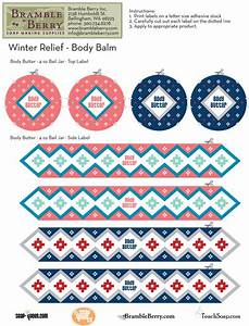 winter relief body butter label template free pdf With body butter label template