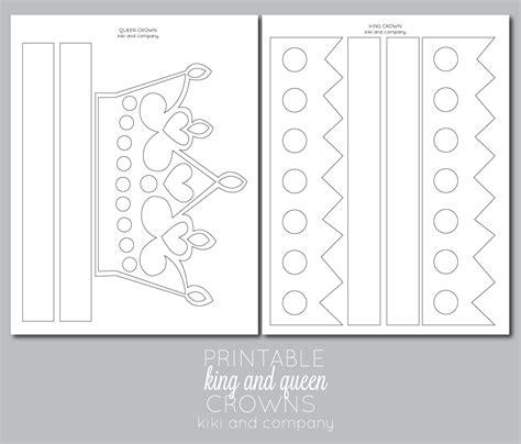 king crown template printable and crown free printable the crafting