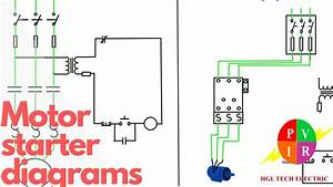 Motor Starter Diagram Start Stop 3 Wire Control Starting Wiring Diagram