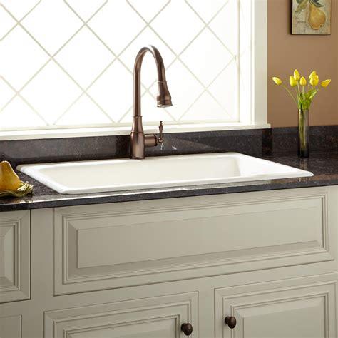 biscuit kitchen faucet 36 quot frattina cast iron drop in kitchen sink kitchen