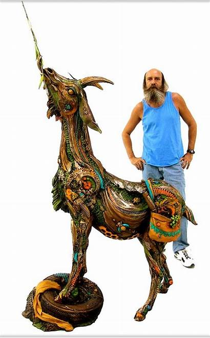 Lopez Nano Sculpture Goat Eric Artist Fl