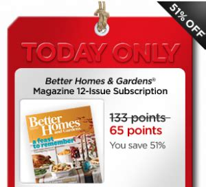 my coke rewards free subscription to better homes