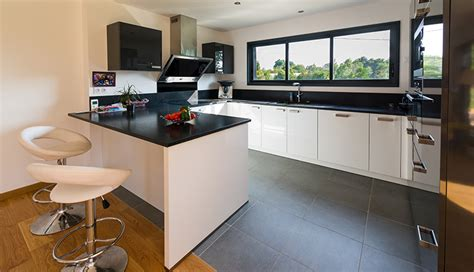 plan de maison avec cuisine ouverte cuisine ouverte macoretz agencement