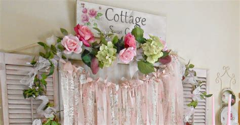 shabby chic garland olivia s romantic home shabby chic rag garlands