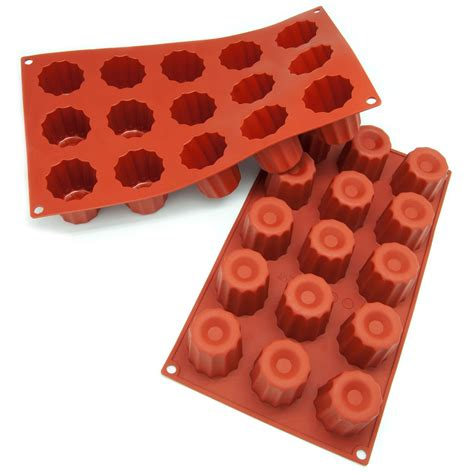 silicone baking bakeware mold pans cavity freshware canneles brands pack cookware cupcake pan