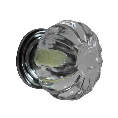 Cabinet Knob Backplate Chrome by Cabinet Knob Clear Acrylic 1 1 4 Dia Chrome Backplate