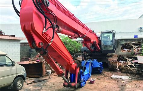 high speed excavator mounted pile driver  pollution environmental friendly