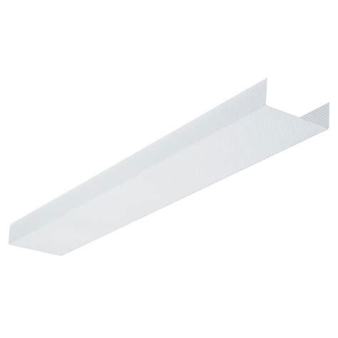 fluorescent light lens covers fluorescent light fixture replacement lens 48 quot rona