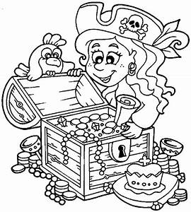 Free coloring pages of treasure chest