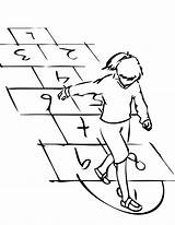 Hopscotch Coloring Hop Template Hopping Chalk Sketch Goes Bad Templates sketch template