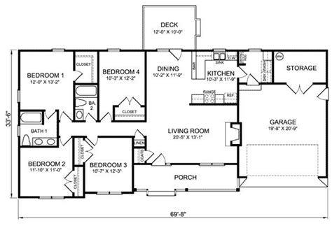 luxury  bedroom ranch house plans  home plans design