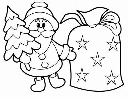 Santa Coloring Pages Printable Claus Christmas Printables