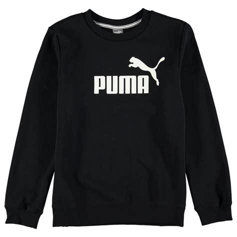 Puma Childrens No1 Logo Sweater Boys Jumper Crew Neck Long Sleeve Clothing | eBay