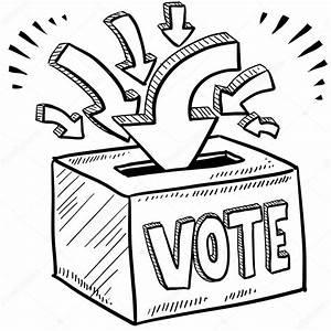 Ballot box voting sketch — Stock Vector © lhfgraphics ...
