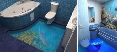 3d Floors Turn Your Bathroom Into An Ocean  Bored Panda