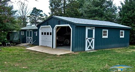 Delaware Sheds And Barns by 2 Car Prefab Garages Prefab Two Car Garage Horizon
