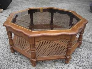 10 images about octagon coffee table on pinterest for Octagon glass top coffee table