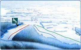 Ovifat ski map, Belgium, Europe