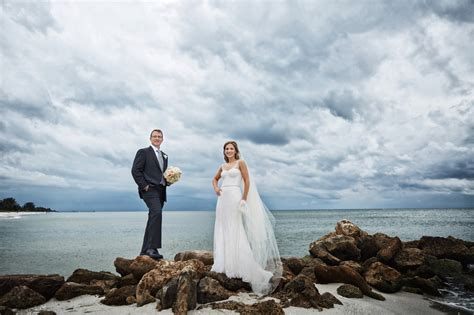 naples beach hotel wedding melissa david beach
