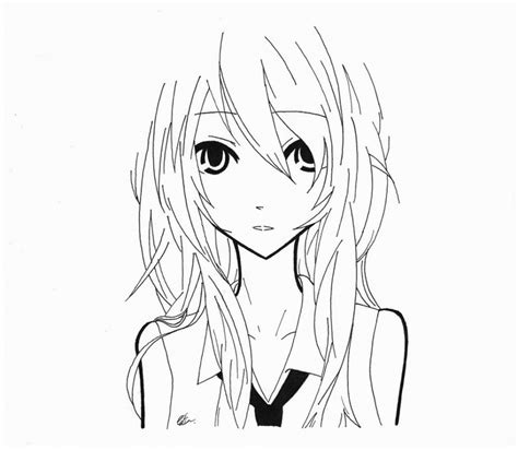 Deviantart Anime Draw Random Anime Girlazdaroth On Black And White Drawings Of Drawing Sketch Library