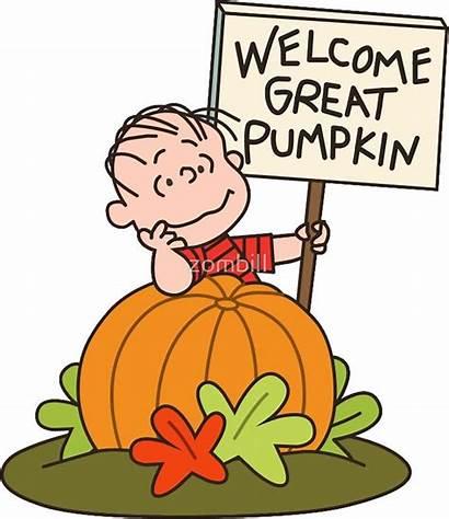Charlie Brown Pumpkin Welcome Halloween Peanuts Clipart