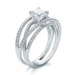 3 band wedding ring custom pave multi band engagement ring 100612 bellevue seattle joseph jewelry