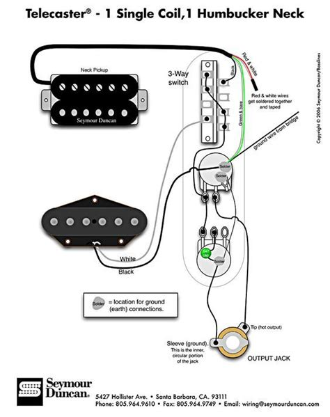 Humbucker Wire Diagram by Telecaster Wiring Diagram Humbucker Single Coil