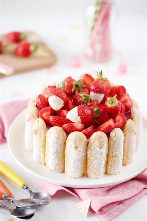 les 25 meilleures id 233 es de la cat 233 gorie desserts aux fraises sur fraises glacage