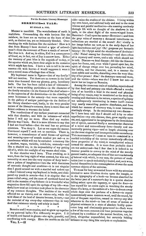 Berenice Resumen Poe by Berenice Cuento La Enciclopedia Libre