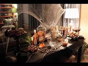 Buffet Halloween : diy halloween buffet decorating ideas youtube ~ Dode.kayakingforconservation.com Idées de Décoration