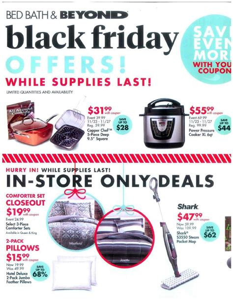 Bed Bath Beyond Sales by Bed Bath Beyond Black Friday Ads Sales And Deals 2017