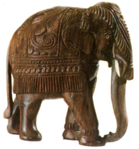 crafts  kerala wood carving elephant indian handicrafts