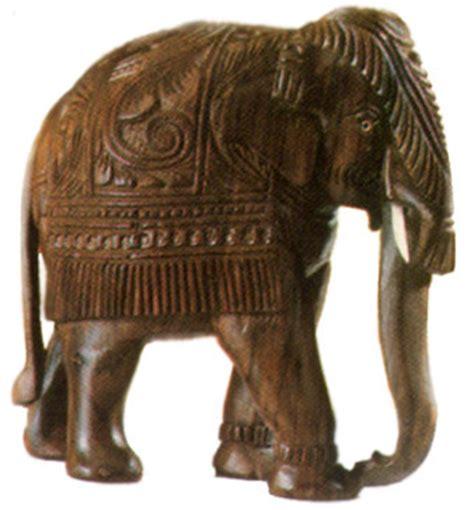 crafts  kerala wood carving elephant indian handicrafts