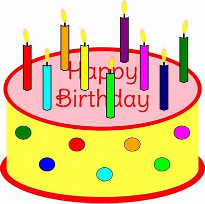 Cake Candles Birthday Clipart Candle Transparent Clip