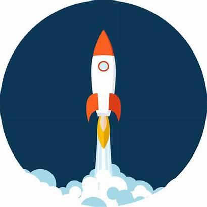 Vector Rocket Launch Ship Clip Illustrations Vectors