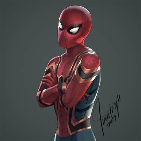 "(@illustreyts) On Instagram ""iron Spider Digital Painting"