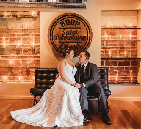 Florida Bride and Groom Romantic Wedding Portrait Inside