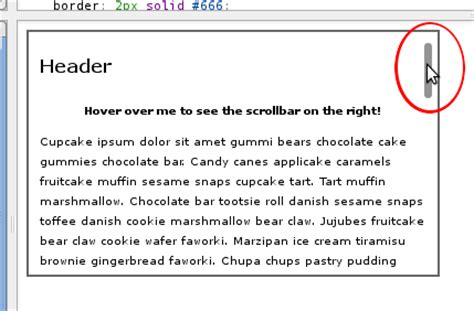 Css Div Scrollbar Style by Css Tricks To Show Or Hide Horizontal And Vertical Scroll Bar