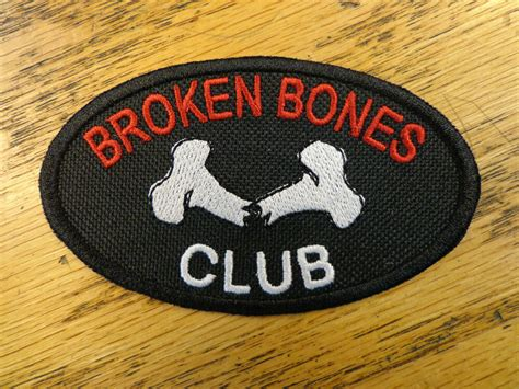 Broken Bones Club Embroidered Patch Vest Patch Outlaw Mc