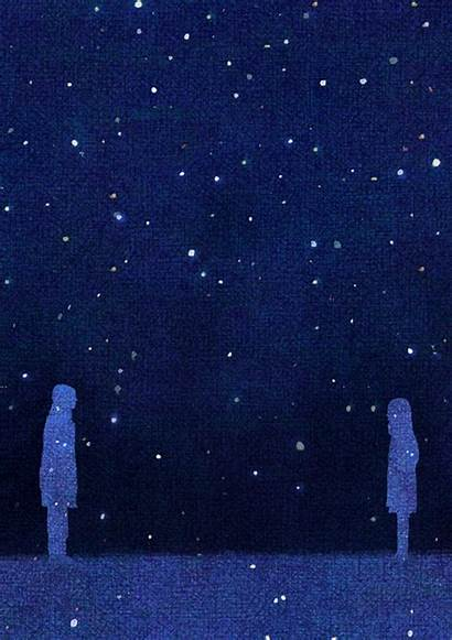 Gifs Night Starry Romantic Noches Sky Illustrations