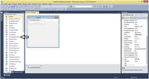 Control Template Context Menu by Create Context Menu On Windows Forms Form With C