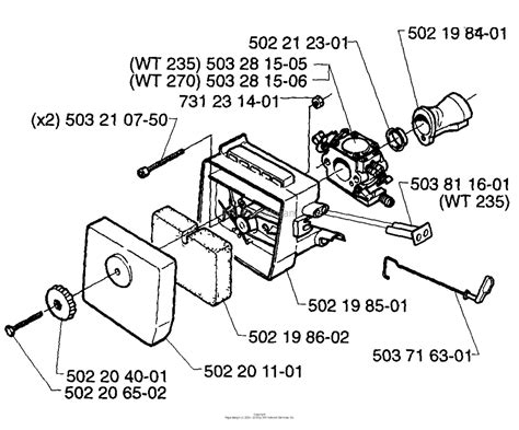 husqvarna     parts diagram  air filter