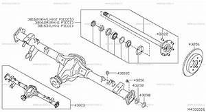 430 - Rear Axle For Navara D40m Nissan Navara